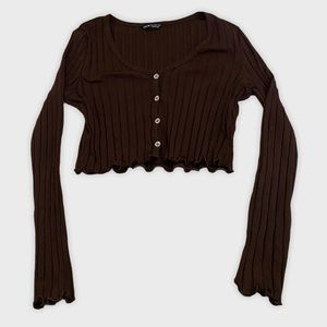 Cropped shein long sleeve
